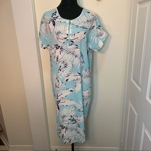 Cherie Bliss Beautiful Summer Palmleafs Midi Dress